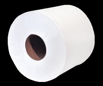 eVolv Elite White Centrepull Towel 600'