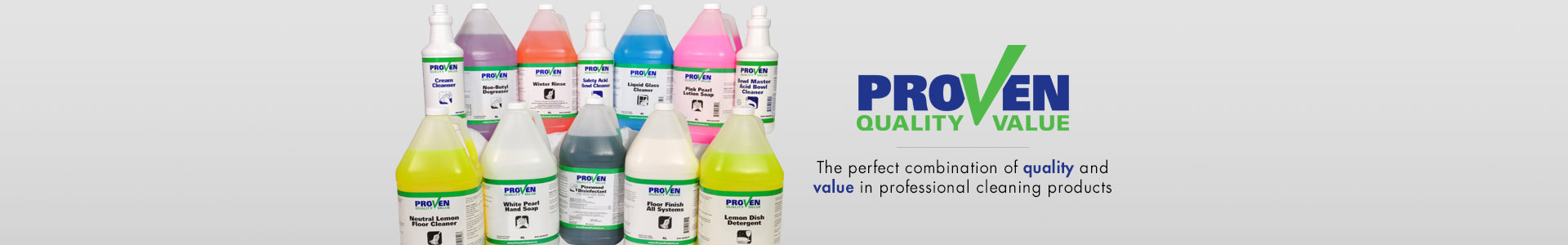 Proven - The perfect combination of quality and value in professional cleaning products